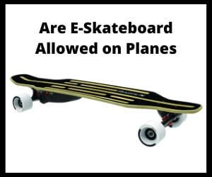 Are Electric Skateboards allowed on plane